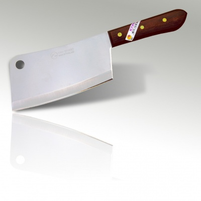 7'' Bone Cleaver Knife Wood Handle