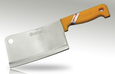 7'' Cleaver Knife Yellow Plastic Handle
