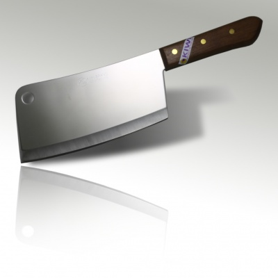 8'' Bone Cleaver Knife Wood Handle
